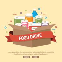 Ilustração de condução de comida