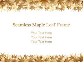 A seamless maple leaf background/frame.