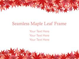 Seamless maple leaf background/frame.
