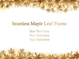 Seamless gold maple leaf background/frame.