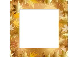 A seamless autumn frame.