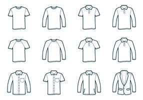 Outline T-Shirt Template