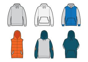 Outlined Blank Hoodie Template