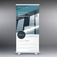 Standee blu astratto business roll up presentazione banner conce