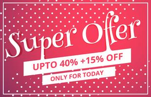 super offer sale discount voucher template design with dots patt