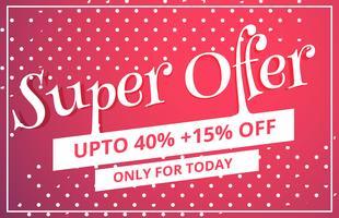 super offre vente discount conception de modèle de bon d'achat avec des points patt