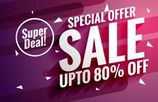 paarse verkoop banner ontwerpsjabloon voor zakelijke promotie
