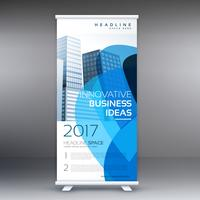 creative business roll up banner design template with abstract s