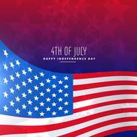 4 juillet fond de drapeau ondulé