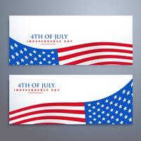 4 de bandeiras de bandeira de julho