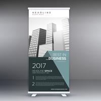 Empresa moderna roll up banner plantilla