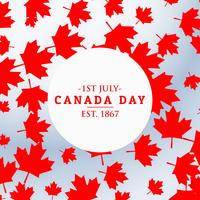 canada day background with leafs