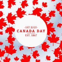 Canada dag achtergrond met bladeren