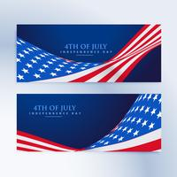 Amerikaanse vlag 4 juli banners