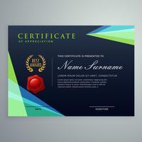 modelo de design elegante certificado escuro em estilo moderno
