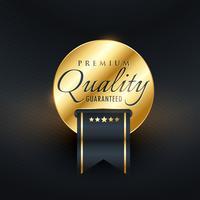 premium quality guarentee golden label design