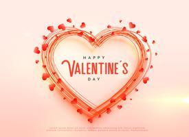 kreativ valentins dag hjärtan bakgrundsdesign
