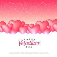stijlvolle roze harten liefde achtergrond voor Valentijnsdag