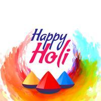 färgglad holi festival bakgrundsdesign