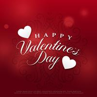 wunderschöne Valentinstag Hintergrund Design
