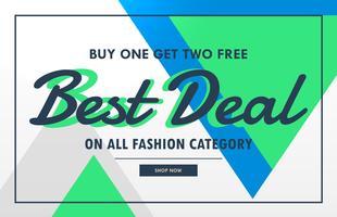 moderne verkoop voucher banner voor de beste deal