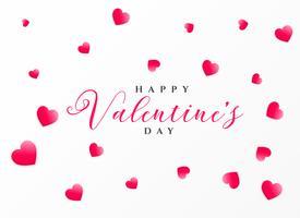 nettoyer la conception de voeux Saint Valentin heureux