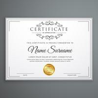 design de modelo de certificado em vetor