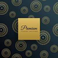 fundo de luxo padrão decorativo dourado