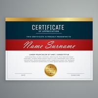 vector de diseño elegante plantilla de certificado