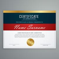 vetor de design de modelo de certificado elegante