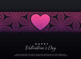 valentine's day dark background design