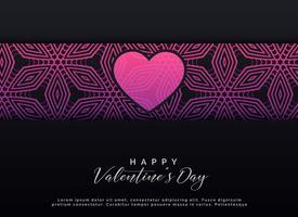 Valentijnsdag donkere achtergrondontwerp