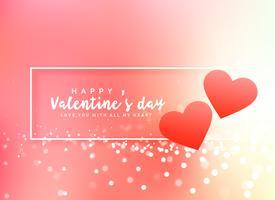 romantischer Valentinstag Poster Design Hintergrund