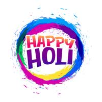 happy holi abstract colorful frame background