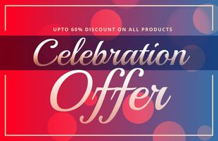 offer sale banner gift voucher discount stylish template