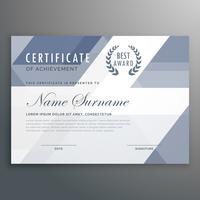 geometriskt certifikat pris mall vektor design