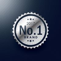 Nr.1 Marke Silber Abzeichen und Etikettendesign