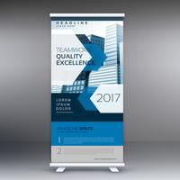 business presentation standee display roll up banner design vect