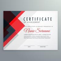 certificat de création certificat de réussite modèle avec rouge et