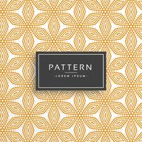 orange decorative flower line pattern background
