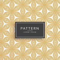 oranje decoratieve bloem lijn patroon achtergrond