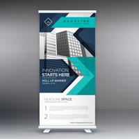 presentation rullar upp display banner