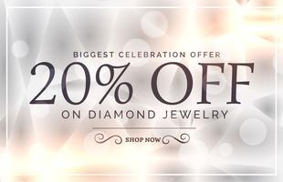 modelo de vetor de banner de venda de estilo premium joias