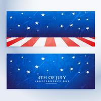 4 juli banners set