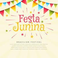 Fondo de vacaciones festival fiesta junina brasil