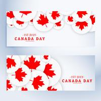 set of canada day banners