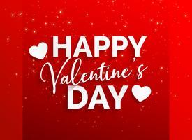Happy Valentinstag roten Hintergrund
