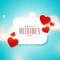 niedlicher Liebesherzhintergrund für Valentinstag