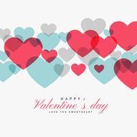 coloré Saint Valentin coeurs d'amour backgorund