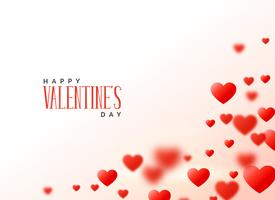 conception de coeurs Saint Valentin avec espace de texte